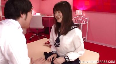 Luscious japanese bombshell Azusa Akane agrees to be viciously drilled