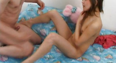 Lustful teen Albina B. is eager to ride muscular fellow