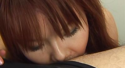 Hot darling Himena Ebihara gives lover a blowjob he will never forget
