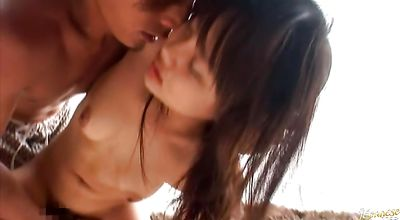 Lustful barely legal honey Nana Sakura lets a guy slam her cunt hard