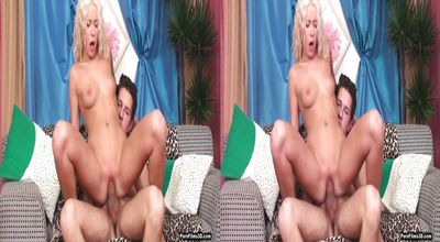 Voracious Teena Lipoldino gives a wild blowjob to her perverted man