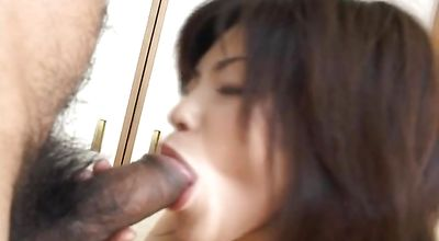 Naked japanese Kurumi Katase sucking a schlong before fucking it thoroughly
