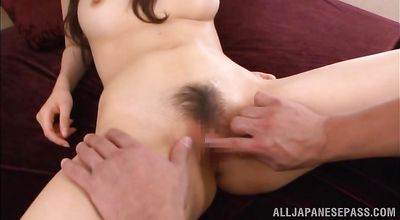 Luscious asian sweetheart Miyui Kaga is about to make love with pal while no one is watching