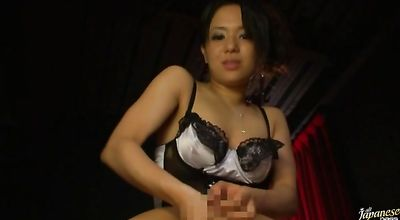 Appetizing Sora Aoi gets a helping hand from her bf