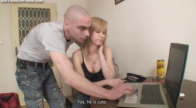 Horny blonde gal Alexis is fucking pal because she likes his hard meat rocket