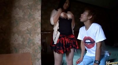 Stare at stupendous hottie Rie Suzumiyas giving head and getting banged so hard