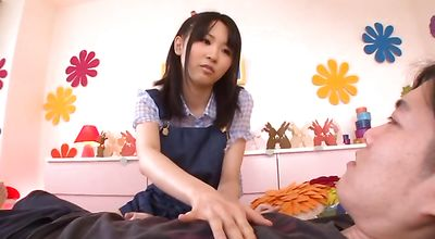 Sweet eastern woman Uruha Mizuki receives a huge lovestick in her tight poon tang