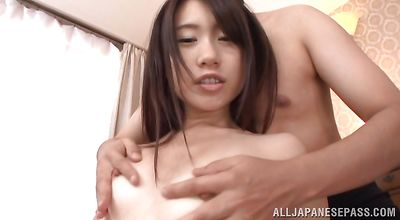 Hot-tempered eastern Risa Hitomi is more than ready to fuck