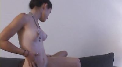 Cute young Bianca with perfect body receives a strong boner