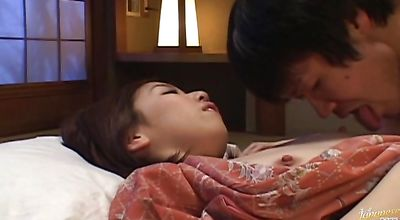 Pungent japanese teen Hikari Umino gets her juice pussy plowed for all she's worth