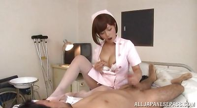 Wonderful floozy Satou Haruka desire to suck a thick chopper