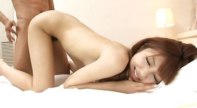 Boyfriend are making salacious young asian Kotone Aisaki horny and eager to fuck