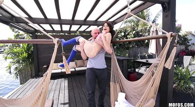 Hunk bangs voluptuous barely legal Kira Adams
