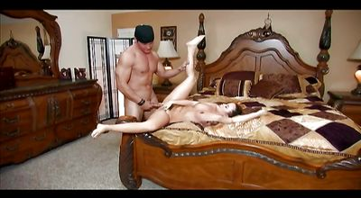 Succulent Kaci Starr swallows a big rod like a pro