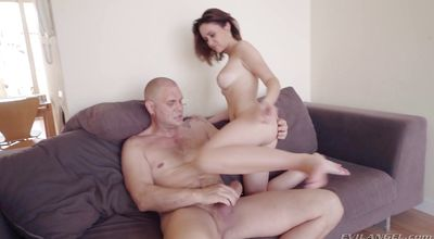 Pretty latina brunette Gina Ferocious with his stiff dink the raw hard way