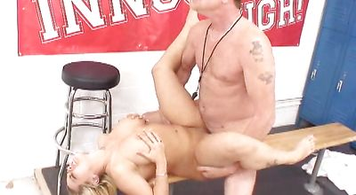 Remarkable blonde young Starla Sterling got booty fucked in a doggy style position