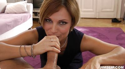 Sausage riding makes sassy Sylvia cum