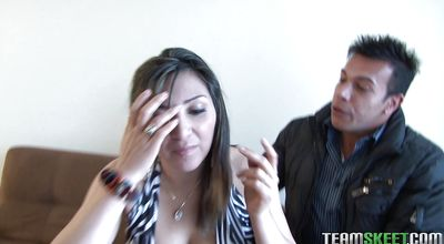 Aphrodisiac Zoila Rada with great natural tits loses her mind on a throbbing dick