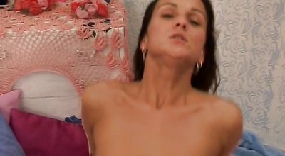 Heavenly girl Monica F willingly bends over to be plowed like a whore