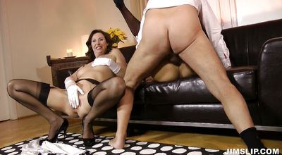 Horny woman Karol spreads her legs for hardcore action