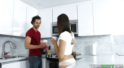 Appealing brunette sweetheart Eden Sinclair does not mind having sex with a stranger as long as she gets satisfied