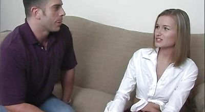 Astounding young blonde Jewel Sins has some casual sex with a brutal bf