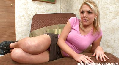 Stupendous bimbo Shayne Ryder is getting banged as hard as mate is able to handle until she cums