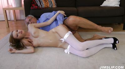 Mischievous blonde girlfriend Angel Hott gets treated good
