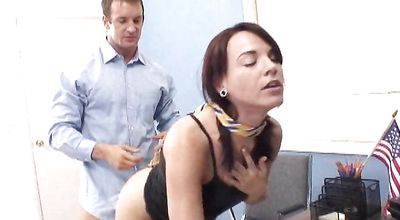 Raunchy brunette kitty Dana Dearmond and her perverted hunk enjoy the sexy afternoon